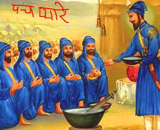 guru govindsingh creates panch pyare for saving humanity