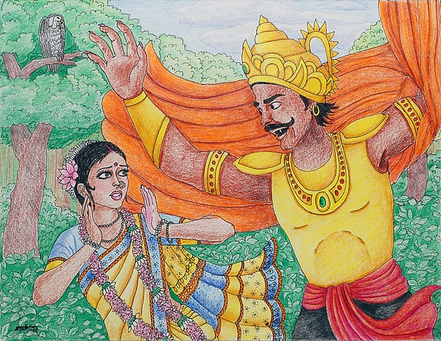 ravana raped his daughter in law!