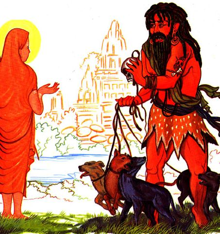 uttanka sage student of rishi gautama saint of krishna