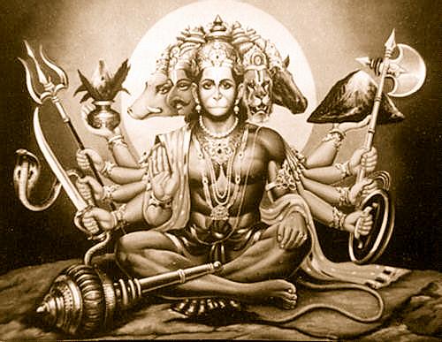 the story of hanumana's 5 head avtara: shravana special