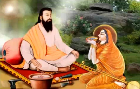 saint ravidas started speaking in age of days!