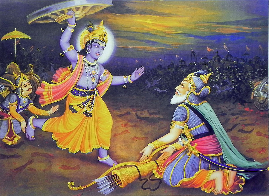 bhishma force lord krishna to break his promise