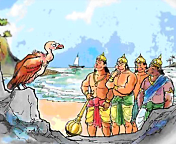 sampati brother of jatayu saved monkey troop's life by telling sita's address