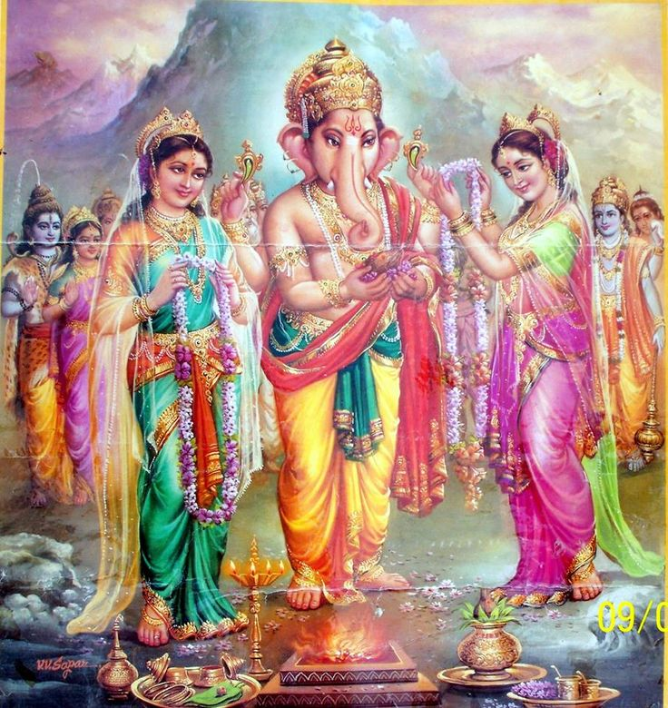 on occasion of ganesh chaturthi, lord ganesh's marriage story