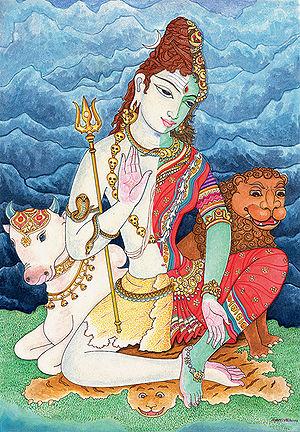 The legend of saint bhringi of shiva
