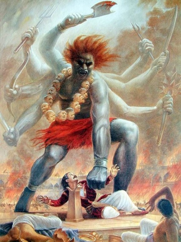 The legend of lord shiva's servant virbhadra and bhairva