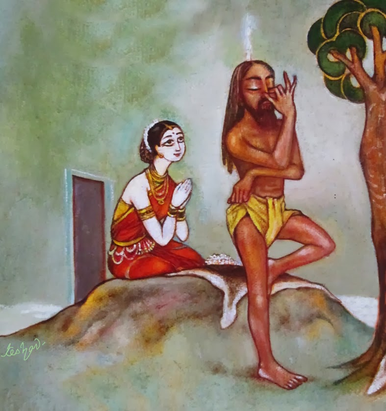 sati shaivya, who hant allow son to come out from cloud