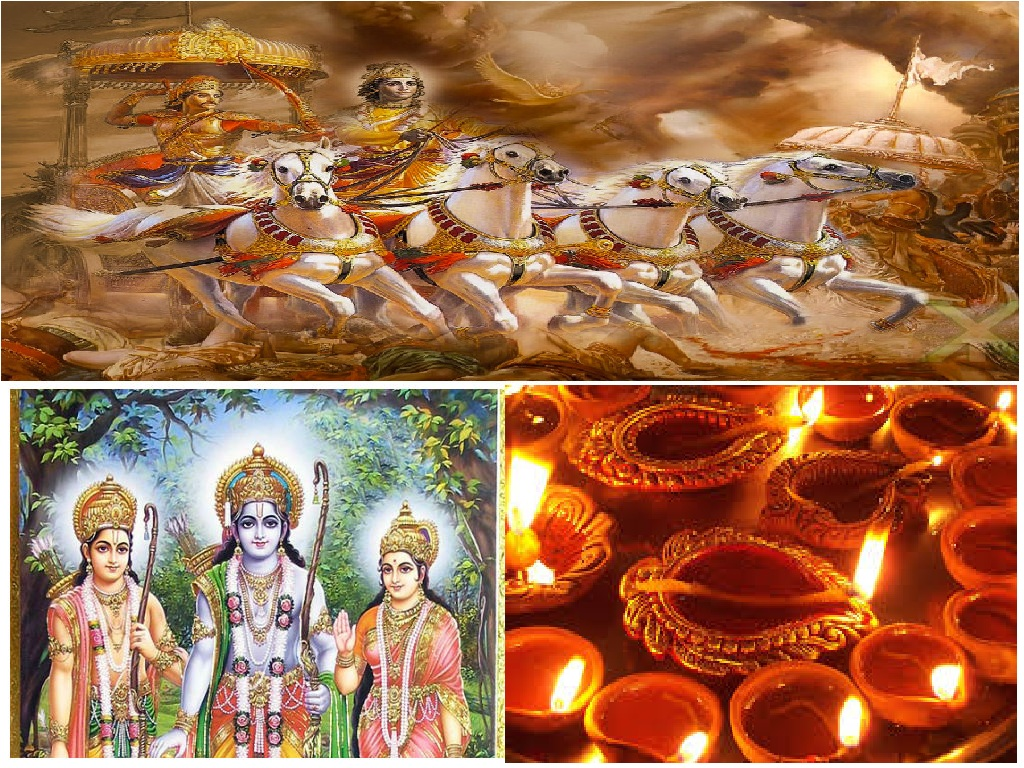 in diwali hasant celebrated at the time of mahabharata?