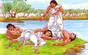 how the pandava were died at the ending of dwapar era