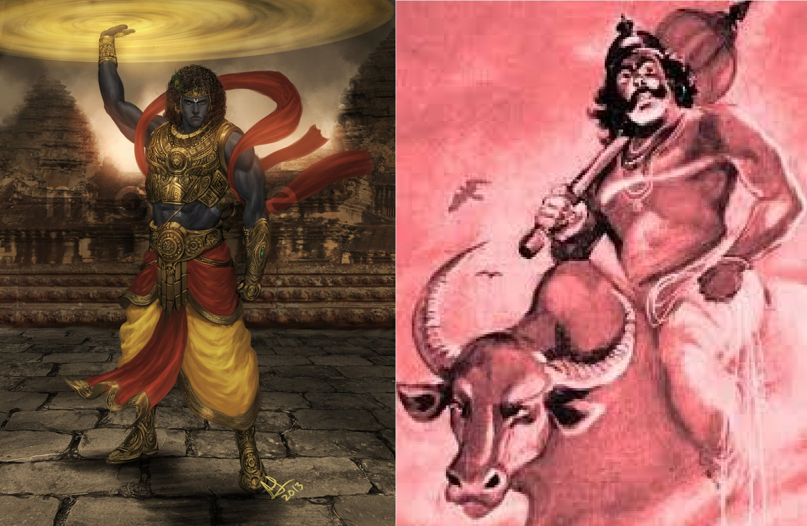 why lord krishna and brother balarama fight with god of death?