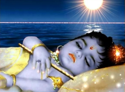 child krishna got ill by black sight of his lovers