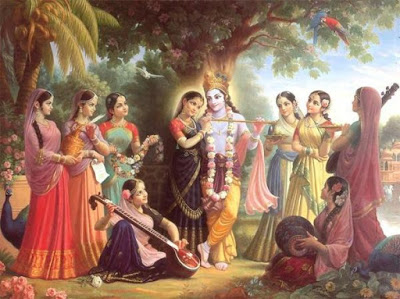 What caused the feet of Radha Krishna drank Crnamrit