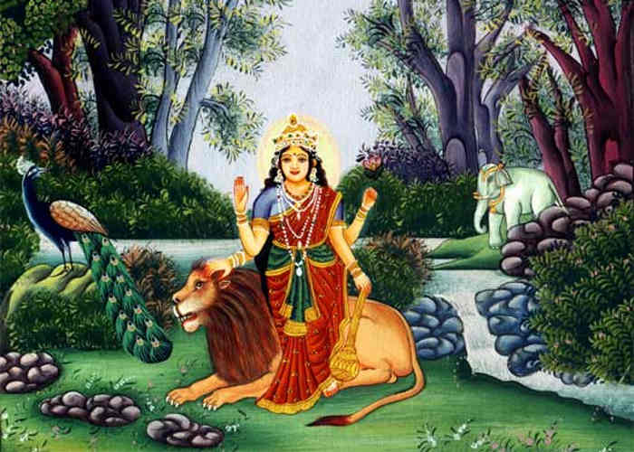 After Durga riding on lions is why