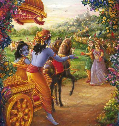 was lord krishna return back to gokul, after going mathura?