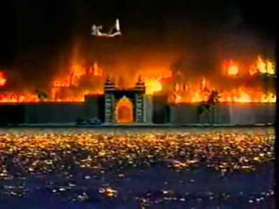 If you're wondering Lanka were caused by the fire to Hanuman 's wrong!