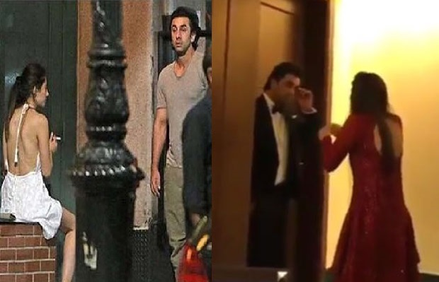 ranveer kapoor spotted with mahira with love bite