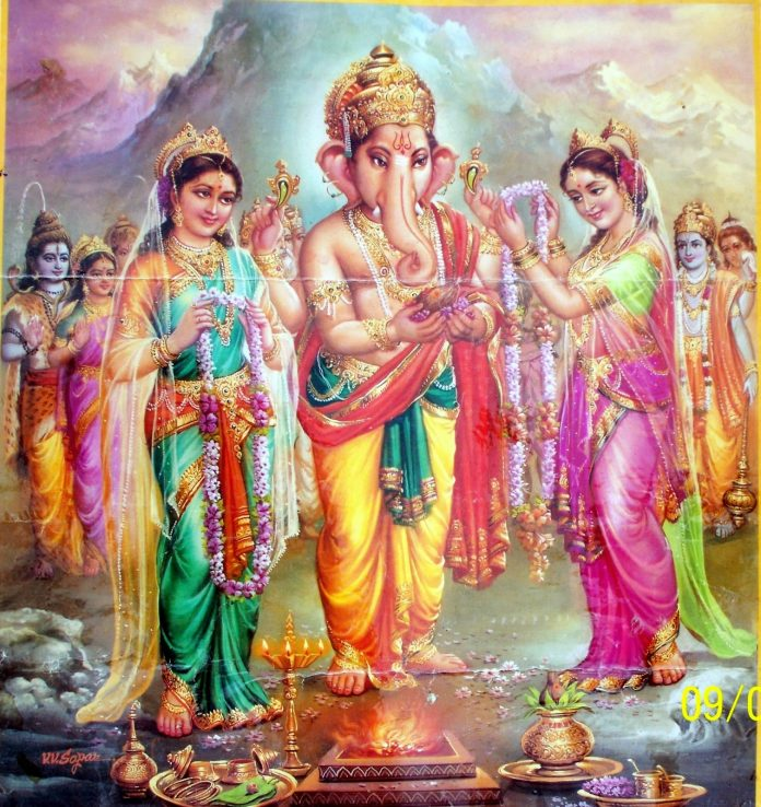 Real lord ganesha marriage story!