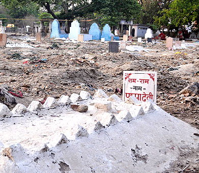 Cemetery for hindu's in Kanpur of UP