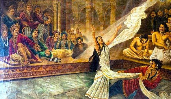 Why dushasan turn so devil to harass draupadi?