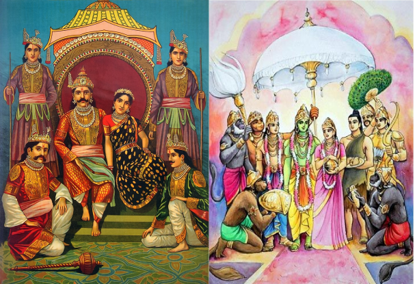 Amazing similarity n yudhisthar & lord rama