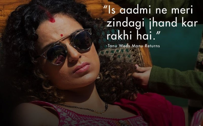 Bollywood movie tannu weds mannu top dialogue