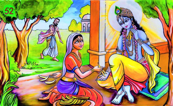 Lord krishna goes to vidur's house for food!