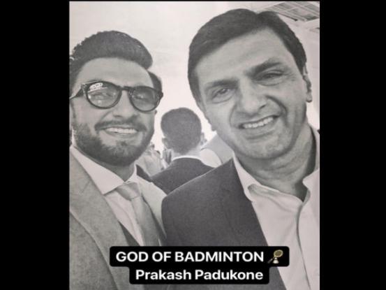 Prakash padukone selfie with ranveer