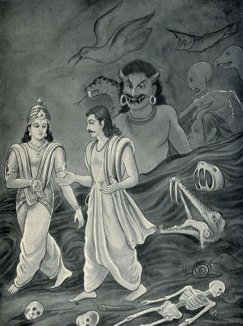 Yudhisthar turn angy on heaven to duryodhana!