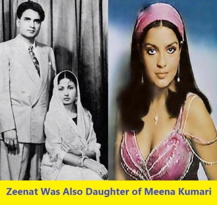Zeenat aman was daughter of meena kumari!