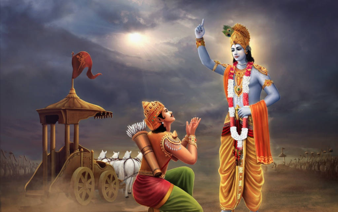 What geeta tell about karma (Workmanship)?