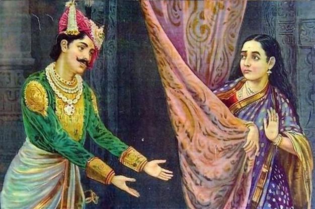 Karna use to play dice with bhanumati wife of duryodhan!
