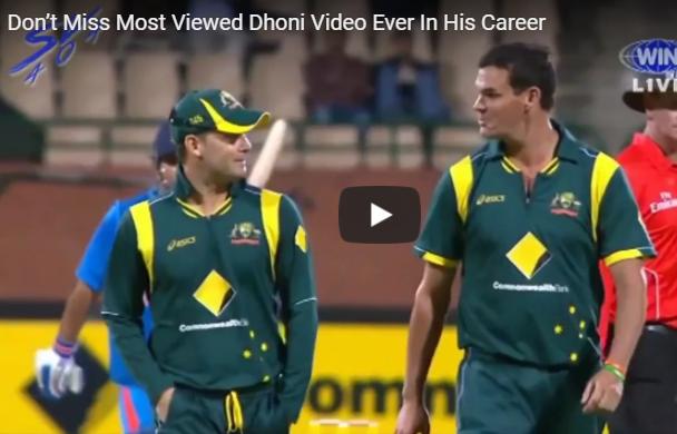 Amazing dhoni finish vs australia