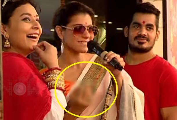 Kajol lashes crappy gesture in public caught in camera!
