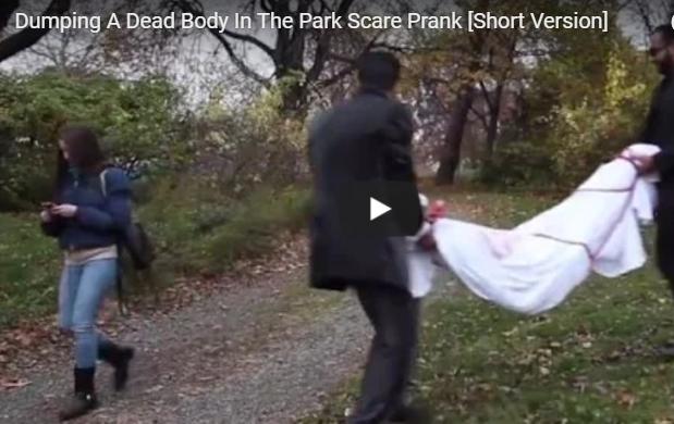 Dumping Dead body prank in an park!